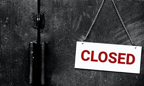 Corona lukket
