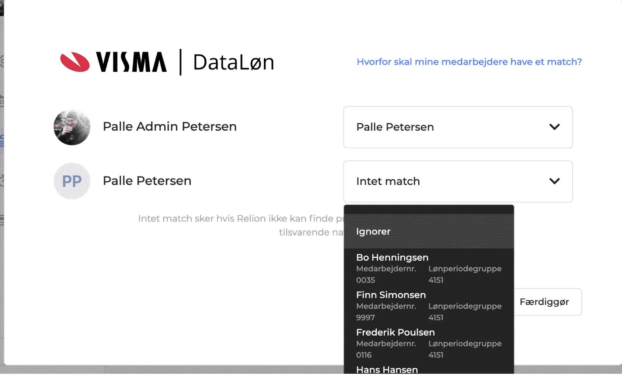 DataLøn integration step 1