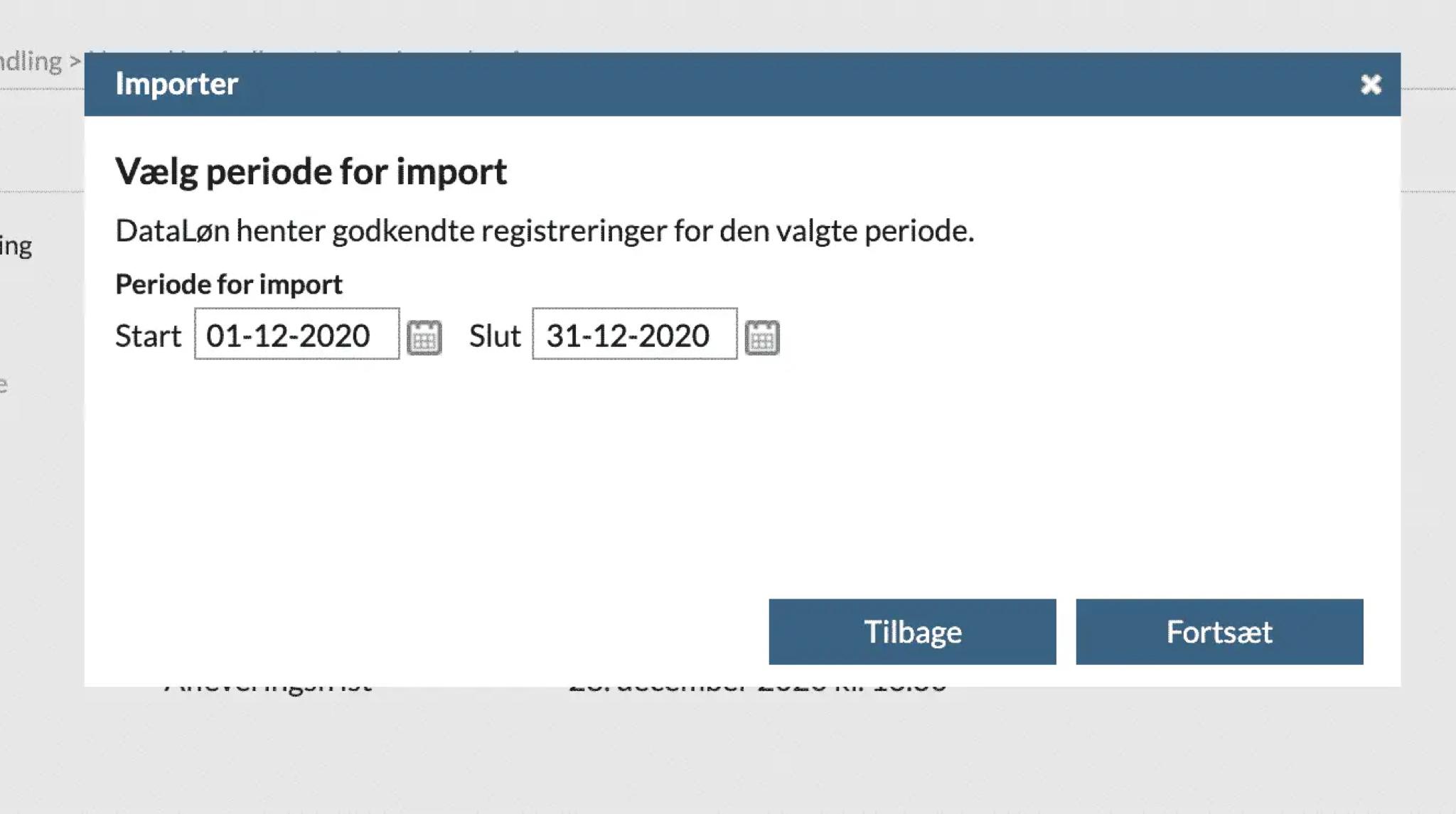 DataLøn integration step