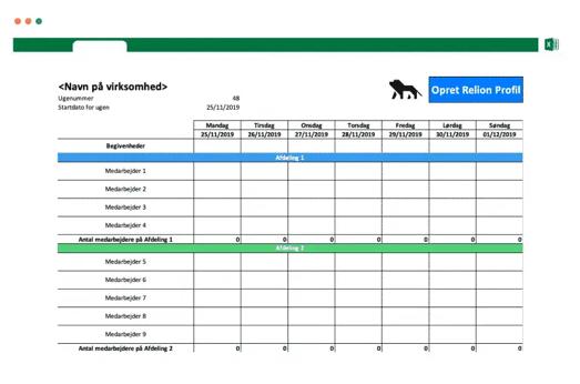 Alternativ til Excel vagtplan