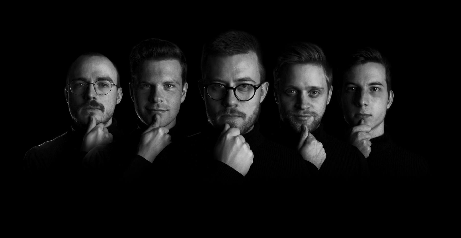Team Relion med Rasmus Skovdal, Kristian Emil Larsen, Jimmy Engelbrecht Sørensen, Thore Elbek og Palle Hauge Petersen. Turteneck billede.